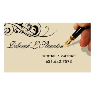Creativo elegante del redactor 1 del escritor para tarjetas de visita