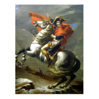 Creator:Jacques-Louis David Napoleon ?berschreitet Postcard
