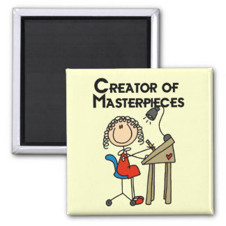 Creator of Masterpieces Tshirts and Gifts 2 Inch Square Magnet