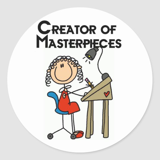 Creator of Masterpieces Tshirts and Gifts Classic Round Sticker