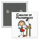 Creator of Masterpieces Tshirts and Gifts Pinback Button