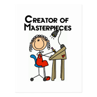Creator of Masterpieces Tshirts and Gifts Postcard