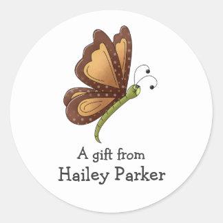 Creator's Canvas · Caramel Brown Butterfly Sticker