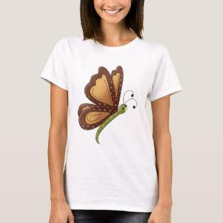 Creator's Canvas · Caramel Brown Butterfly T-Shirt