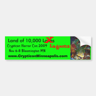 Creature 1, Land of 10,000 Lakes, X, Lagoons, C... Car Bumper Sticker