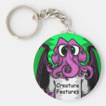 Creature Features Logo Shirt featuring Cthulhu Keychains