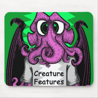 Creature Features Logo Shirt featuring Cthulhu Mouse Pad