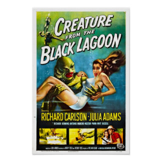 Creature from the Black Lagoon Vintage Poster