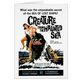 """""""Creature from the Haunted Sea"""" Card"""