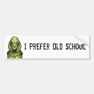 Creature I Prefer Old School Bumper Sticker