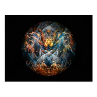 Creature Mandala Totem Postcard