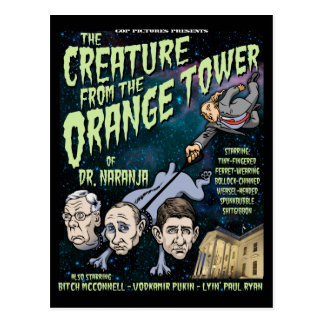Creature of Dr. Naranja Postcard