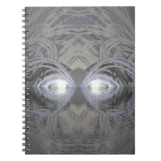 Creature of the Lake Silver Spiral Notebook