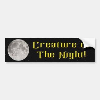 Creature of the Night Car Bumper Sticker