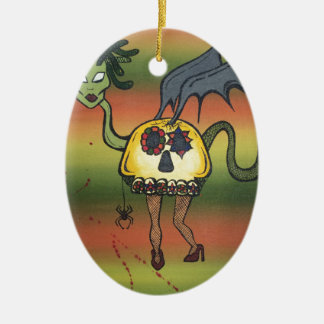 Creature of the Night Ceramic Ornament