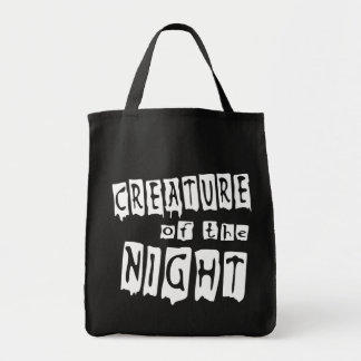 Creature of the Night Grocery Trick or Treat Tote Bags