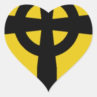 Creature Shield Logo Heart Sticker