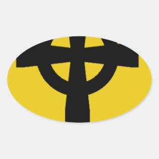 Creature Shield Logo Oval Sticker