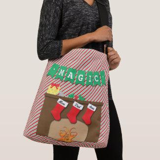 Creature Was Stirring • Christmas • 3 Stockings Crossbody Bag