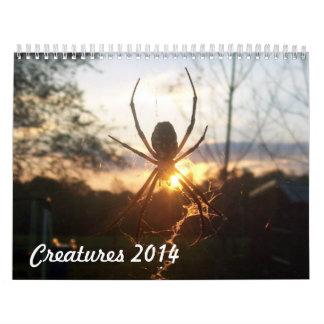Creatures 2014 calendar
