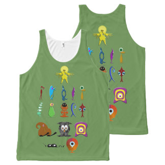 Creatures All-Over-Print Tank Top