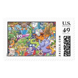 Creatures festival postage stamp