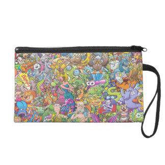 Creatures festival wristlet purse