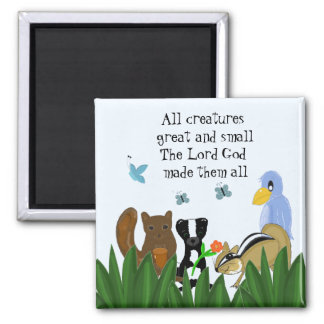 Creatures Great and Small 2 Inch Square Magnet