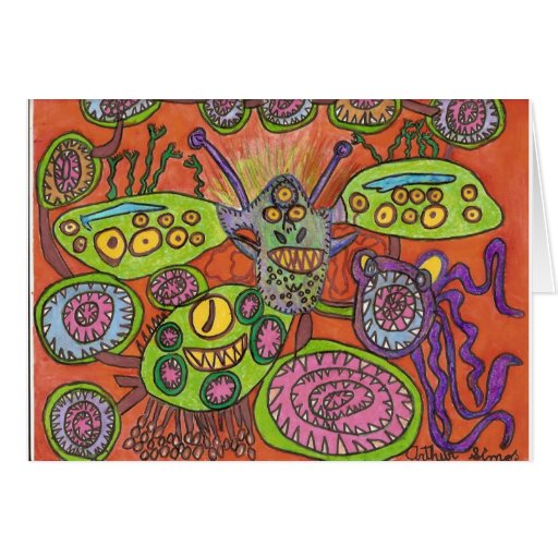 Creatures Greeting Card