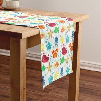 Creatures of the Sea Short Table Runner