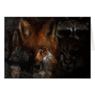 Creatures of the Woods Gifts & Greetings Card