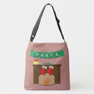 Creatures Stirring • Christmas Eve • 2 Stockings Crossbody Bag