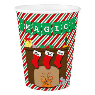 Creatures Stirring Christmas Eve • 3 Stockings Paper Cup