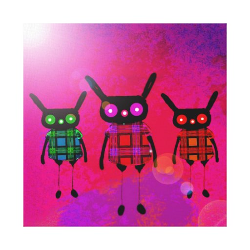 creatures without names stretched canvas prints