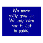 Crecemos nunca realmente postal