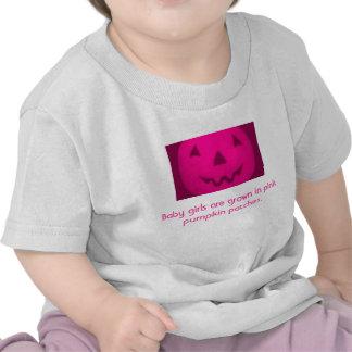 Crecen a las niñas en remiendos rosados de la cala camisetas