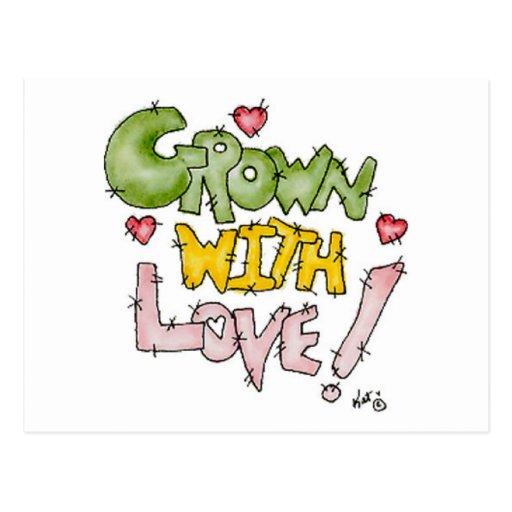 Crecido con las postales del amor