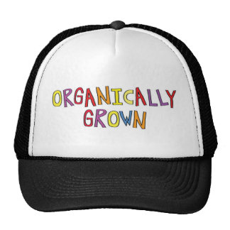 Crecido orgánico gorras de camionero