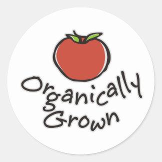 Crecido orgánico pegatina redonda