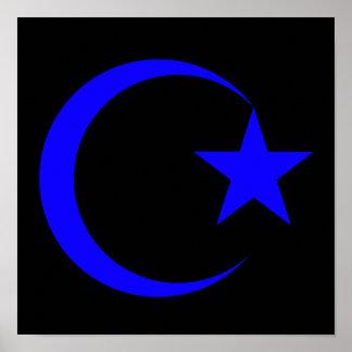 Creciente azul y Star.png Poster