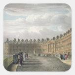 Creciente de Lansdown, baño, 1820 Pegatinas Cuadradas