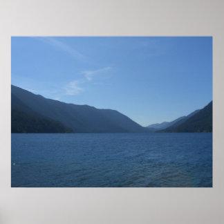 Creciente del lago, WA Póster