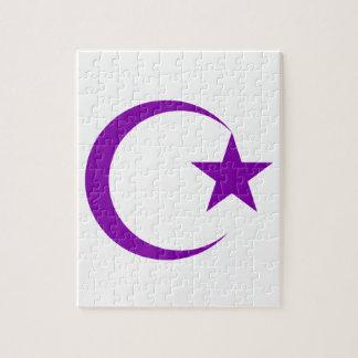 Creciente púrpura y Star png Puzzle
