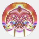 Creciente V del fractal de Arnold 4 pegatinas