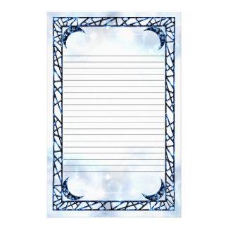 Creciente vertical azul eléctrico alineado papelería de diseño