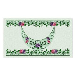 Creciente vertical de la diosa verde tarjetas de negocios