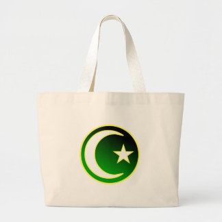 Creciente y estrella del Islam Bolsa Tela Grande