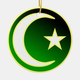 Creciente y estrella del Islam Ornamento De Navidad