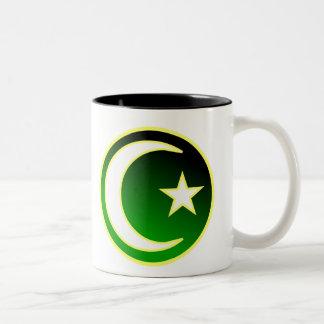Creciente y estrella del Islam Taza De Dos Tonos