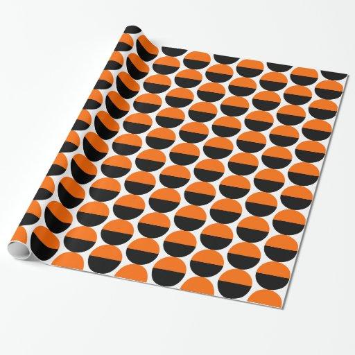 Crecientes de alternancia 05 - naranja y negro papel de regalo